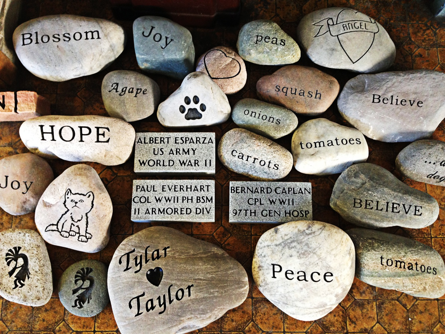 Headstones and other products family craft memorials for Crafts using stones
