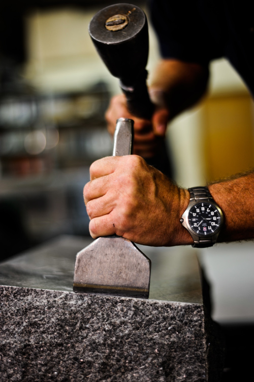Hammer and Chisel on Granite